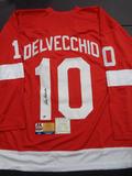 Alex Delvecchio Detroit Red Wings Autographed Custom Hockey DC Sports & Full Time coa