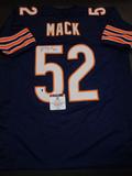 Khalil Mack Chicago Bears Autographed Custom Football Jersey GA coa