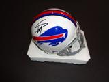 Stefon Diggs Buffalo Bills Autographed Riddell Mini Helmet GA coa