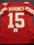 Patrick Mahomes Kansas City Chiefs Autographed Custom Football Jersey GA coa