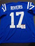 Phillip Rivers Indianapolis Colts Autographed Custom Football Jersey GA coa