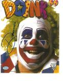 DOINK THE CLOWN (John Maloof) WWF/WWE Autographed 8x10 Photo Mancave coa