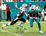 Brandon King New England Patriots Autographed 8x10 Photo Full Time coa