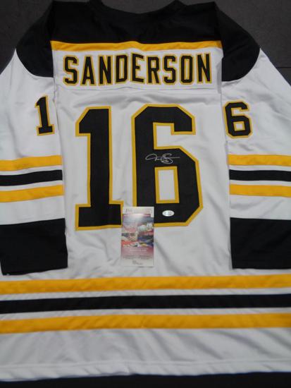 Derek Sanderson Boston Bruins Autographed Custom Hockey Style Jersey JSA coa