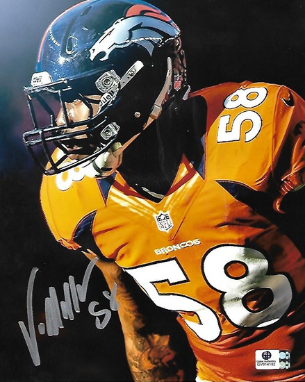 Von Miller Denver Broncos Autographed 8x10 Photo GA coa