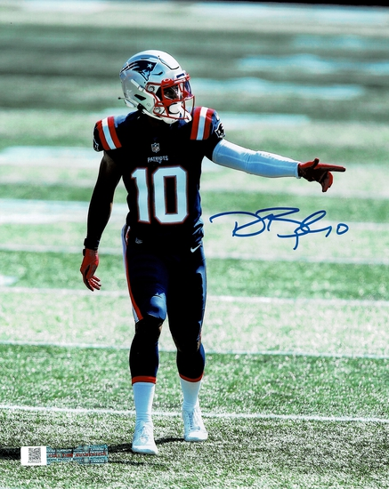 Damiere Byrd New England Patriots Autographed 8x10 Photo Full Time coa