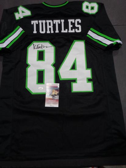 Kevin Eastman Teenage Mutant Ninja Turtles Autographed Custom Jersey JSA W coa