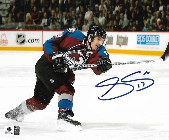 Joe Sakic Colorado Rockies Autographed 8x10 Photo GA coa