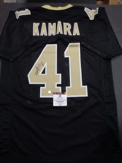 Alvin Kamara New Orleans Saints Autographed Custom Football Jersey GA coa