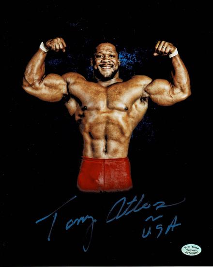Tony Atlas WWF/WWE Autographed & Inscribed 8x10 Photo Full Time coa
