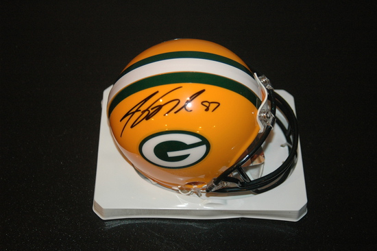Jordy Nelson Green Bay Packers Autographed Riddell Mini Helmet GA coa