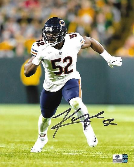 Khalil Mack Chicago Bears Autographed 8x10 Photo GA coa