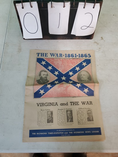 The war of 1861-1865 Historical Paper