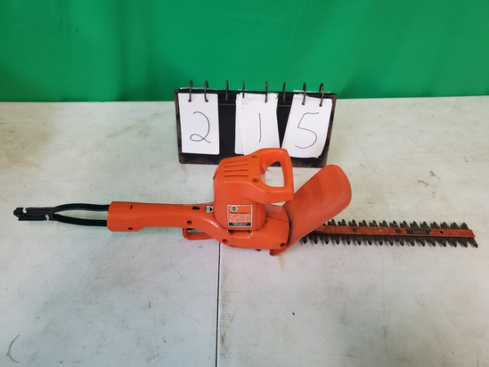 electric Black and Decker hedge trimmer