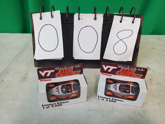Two Collectible Diecast Virginia Tech Cars
