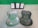 2 Bunny Rabbit Wilton Cake Pans