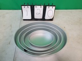Set of 4 Oval Cake pans Wilton