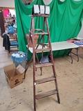 6 foot wooden ladder