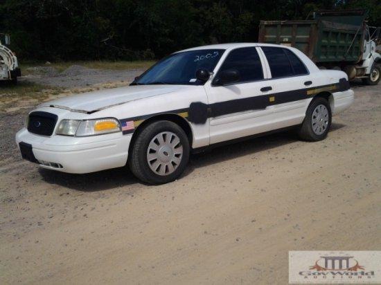 2008 FORD CROWN VICTORIA POLICE INTERCEPTOR:VIN# 2FAFP71V88X144052