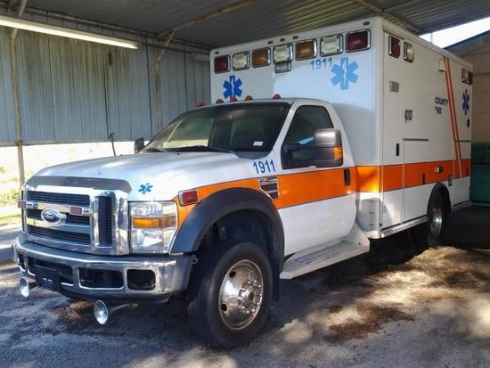 2008 Ford F-450 AMBULANCE, VIN # 1FDXF46R28EA86397