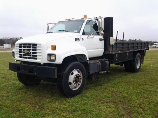 2000 Chevrolet C7500 Flatbed Truck, VIN # 1GBM7H1B7YJ506365