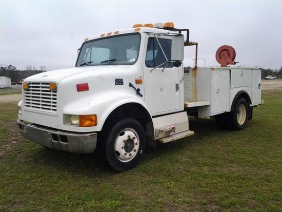 1996 International 4700 Low Profile Service Truck, VIN # 1HTSLAAK3TH244580