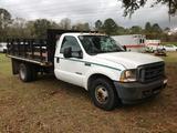 2003 Ford F-350 XL Flatbed Truck, VIN # 1FDWF36P53EC35172