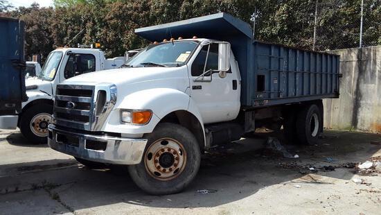 2010 Ford F-750 XL Super Duty Dump Truck, VIN # 3FRXF7FC8AV274436