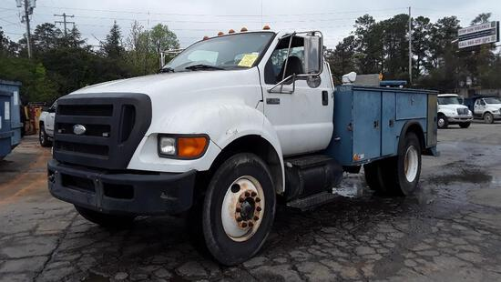 2009 Ford F-750 Compressor Truck, VIN # 3FRXF75E59V090554