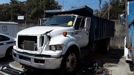 2012 Ford F-650 XL Super Duty Dump Truck, VIN # 3FRWF6FC7CV419748