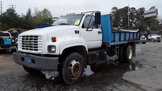 2001 Chevrolet C7500 Dump Truck, VIN # 1GBJ7H1C91J507180