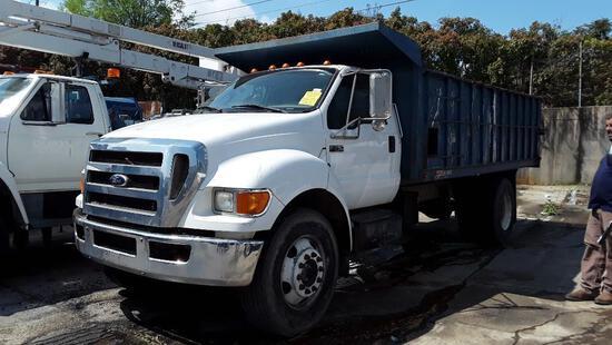 2010 Ford F-750 XL Super Duty Dump Truck, VIN # 3FRXF7FC6AV274435