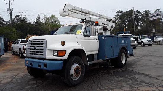 1998 Ford F800 Bucket Truck, VIN # 1FDXF80C2WVA30114