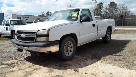 2006 Chevrolet Silverado Pickup Truck, VIN # 3GCEC14X56G224010