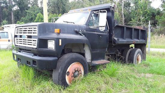 1992 Ford F700 Dump Truck, VIN # 1FDXK74P8NVA31477