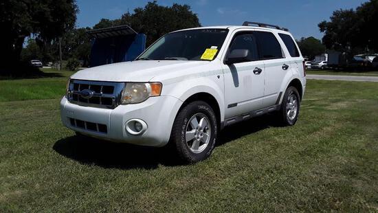 2008 Ford Escape Multipurpose Vehicle (MPV), VIN # 1FMCU93198KA18731
