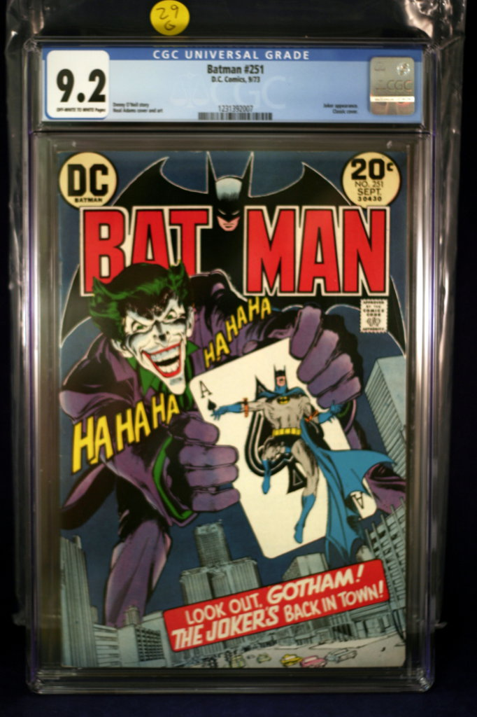 Batman #251 - Neal Adams Classic Joker Cover - CGC 9.2!