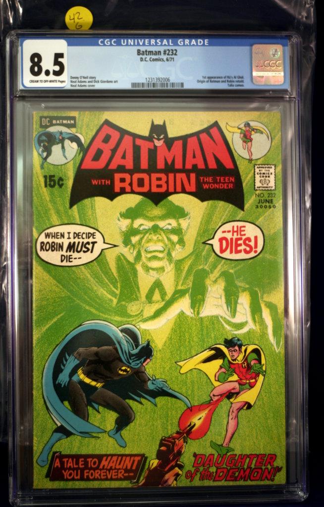 Batman #232 - 1st Ra's Al Ghul - CGC 8.5 - MAJOR KEY!