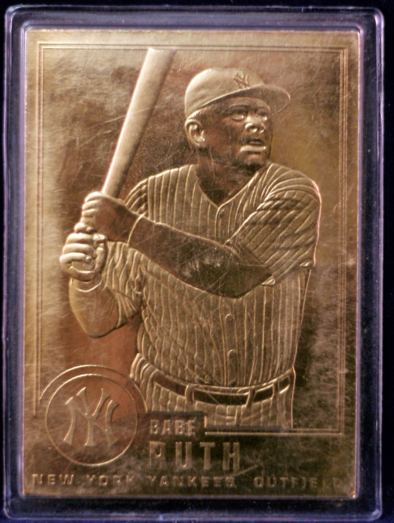Lot 1995 Babe Ruth Gold Plated Baseball Card Limited Edition