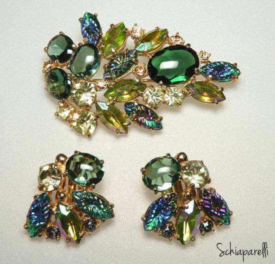 Vintage Schiaparelli Demi Parure
