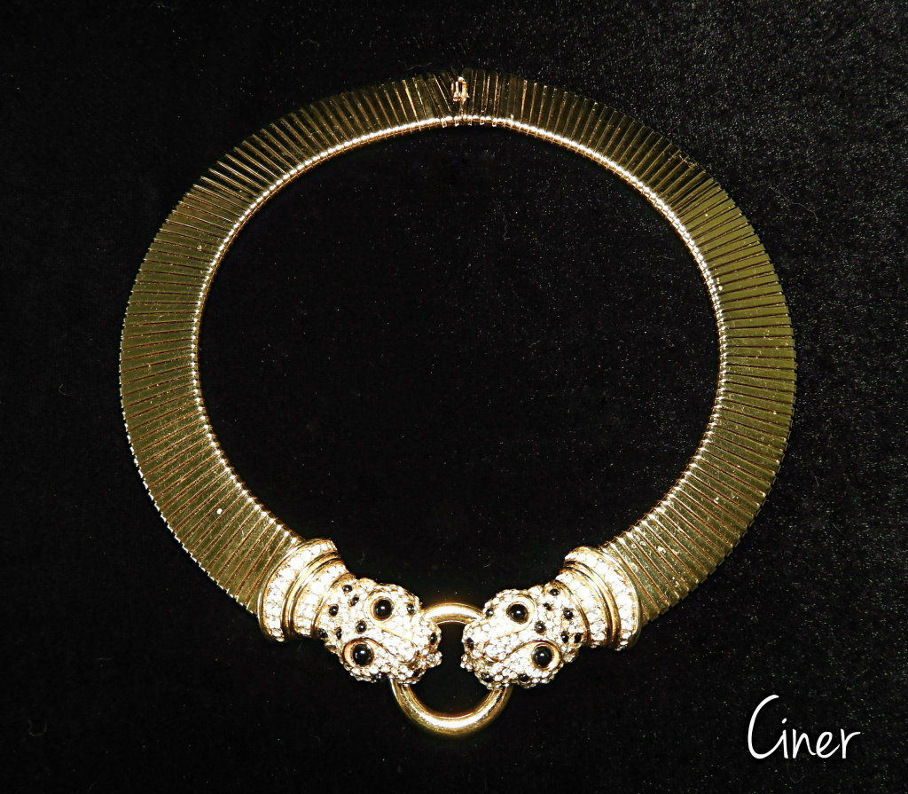 Vintage Ciner Panther Collar Necklace