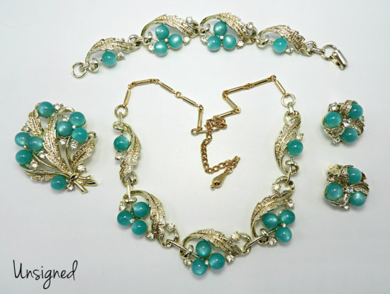 Vintage Turquoise Moon Glow Parure