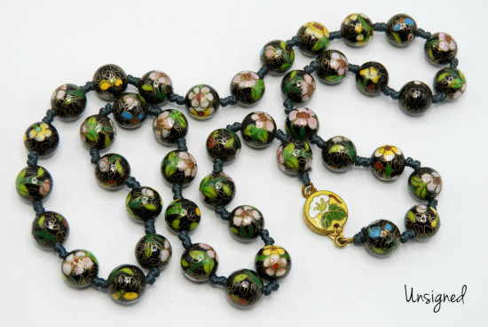 Vintage Cloissone Bead Necklace
