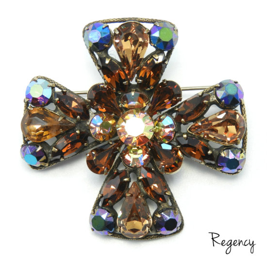 Vintage Regency Maltese Cross Brooch