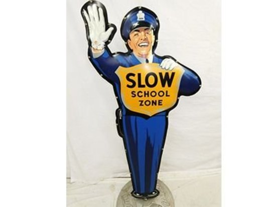 Slow School Zone Standup Policeman