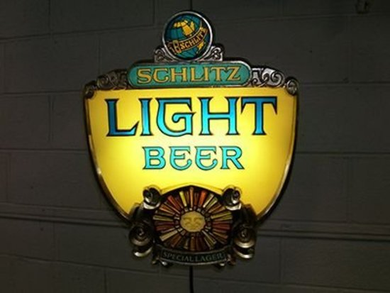 1970s Schlitz Light Beer Lighted Sign