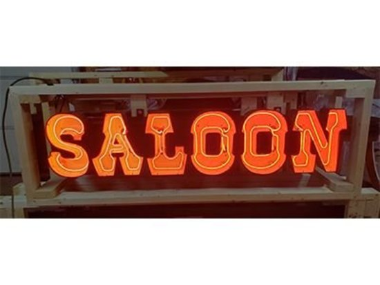 Saloon Neon Sign - 16x65""