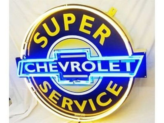 "Chevrolet Super Service 50"" Neon Sign"