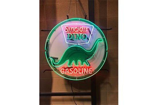 "24"" Sinclair Dino Gasoline Neon Sign"