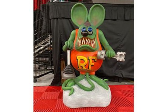 Rat Fink Statue with Tools